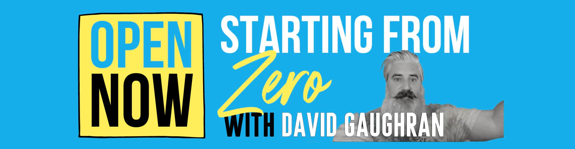 Starting from Zero David Gaughran free self-publishing course