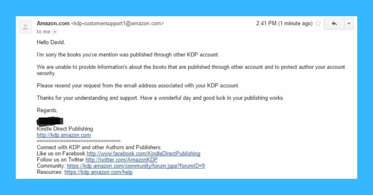 fake book amazon response